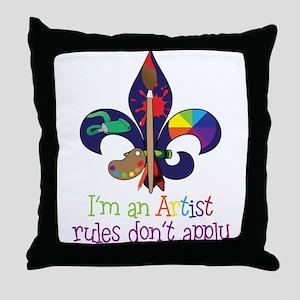 Im An Artist Throw Pillow