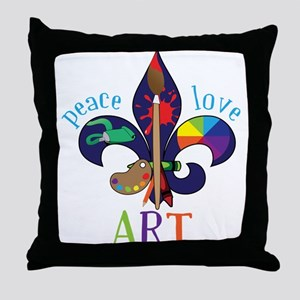 Peace Love Art Throw Pillow