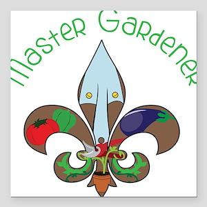 "Master Gardener Square Car Magnet 3"" x 3"""