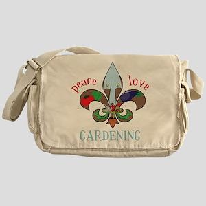 Peace Love Gardening Messenger Bag