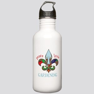 Peace Love Gardening Stainless Water Bottle 1.0L
