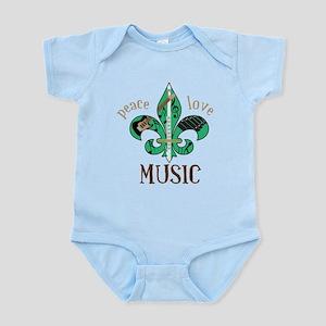 Peace Love Music Infant Bodysuit