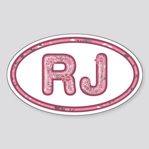 RJ Pink Sticker (Oval)