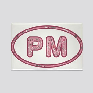 PM Pink Rectangle Magnet