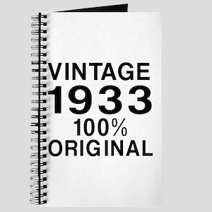 Vintage 1933 Birthday Designs Journal
