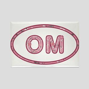 OM Pink Rectangle Magnet
