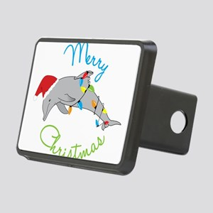 Merry Christmas Rectangular Hitch Cover