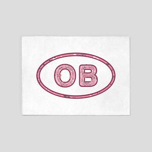 OB Pink 5'x7'Area Rug