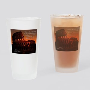 This To The Right - Horace Drinking Glass