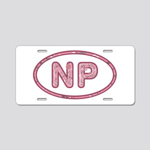 NP Pink Aluminum License Plate