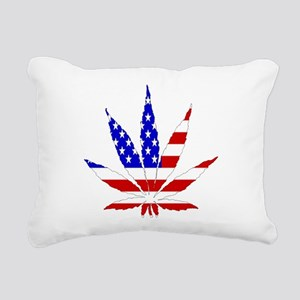 American Pot Leaf Rectangular Canvas Pillow