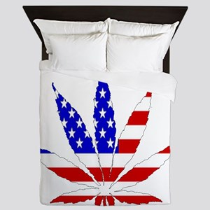 American Pot Leaf Queen Duvet