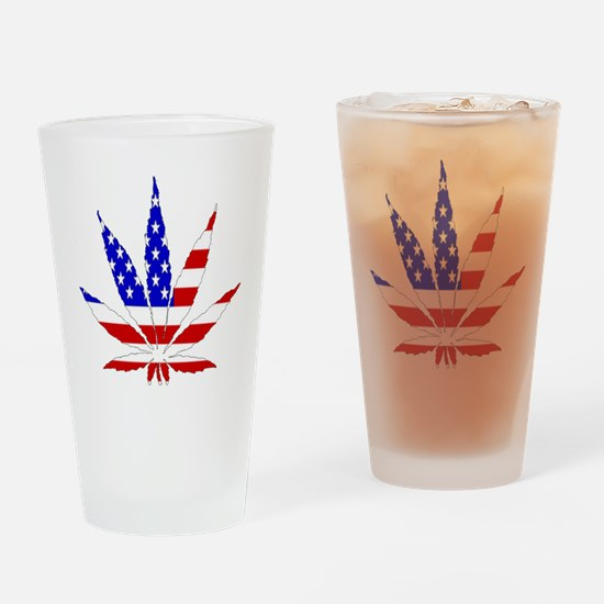 American Pot Leaf Drinking Glass