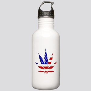 American Pot Leaf Stainless Water Bottle 1.0L