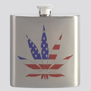American Pot Leaf Flask