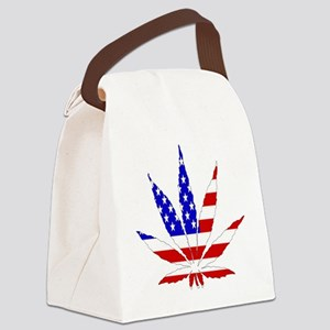 American Pot Leaf Canvas Lunch Bag
