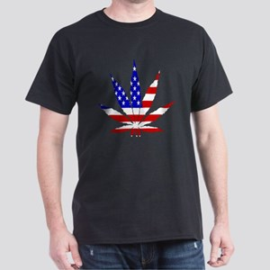American Pot Leaf Dark T-Shirt