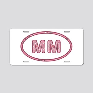 MM Pink Aluminum License Plate