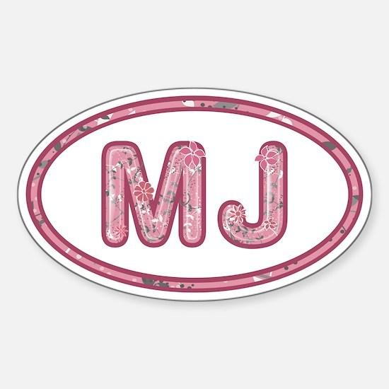 MJ Pink Sticker (Oval)