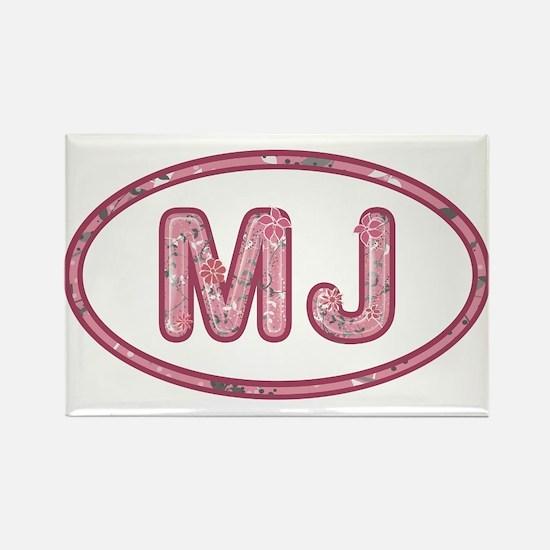 MJ Pink Rectangle Magnet