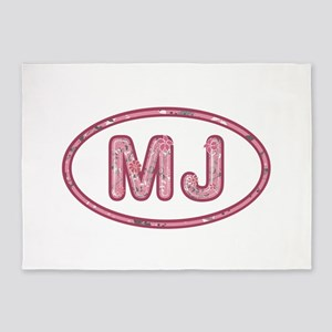 MJ Pink 5'x7'Area Rug