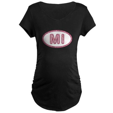 MI Pink Maternity Dark T-Shirt