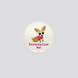 Custom Pink Chihuahua Mini Button