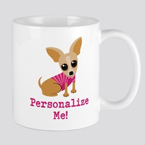 Custom Pink Chihuahua Mug