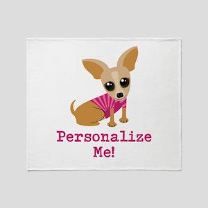 Custom Pink Chihuahua Throw Blanket