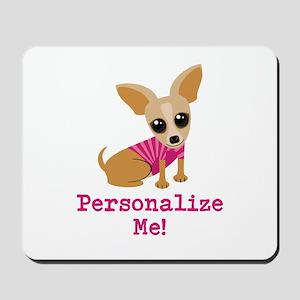 Custom Pink Chihuahua Mousepad