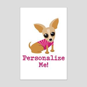 Custom Pink Chihuahua Mini Poster Print