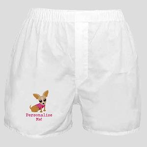 Custom Pink Chihuahua Boxer Shorts