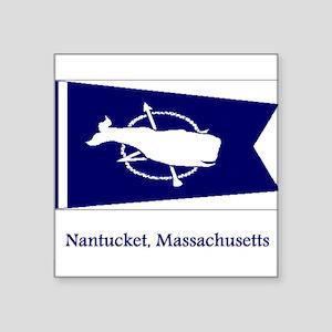 Nantucket MA Flag Rectangle Sticker