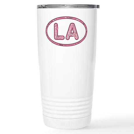 LA Pink Stainless Steel Travel Mug