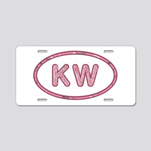 KW Pink Aluminum License Plate