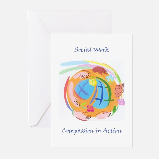 compassion in actio... Greeting Cards