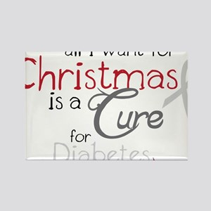 Cure For Diabetes Rectangle Magnet