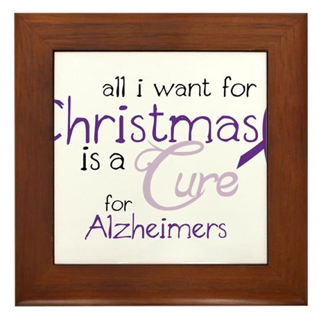 Cure For Alzheimers Framed Tile