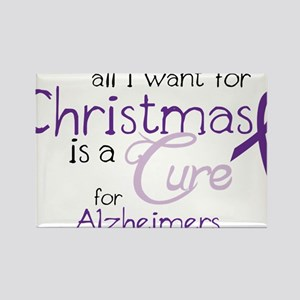 Cure For Alzheimers Rectangle Magnet