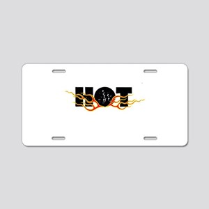 Hot Fire Aluminum License Plate