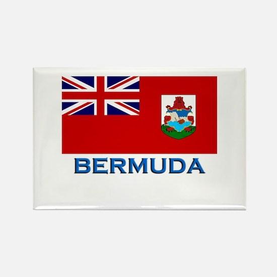Bermuda Flag Stuff Rectangle Magnet