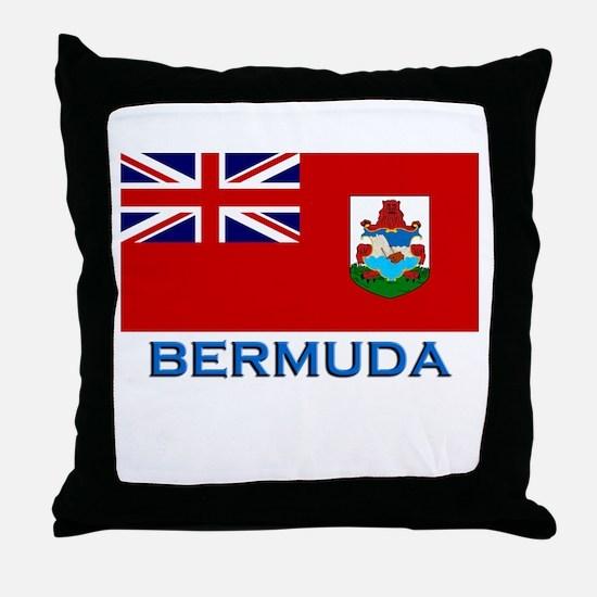 Bermuda Flag Stuff Throw Pillow
