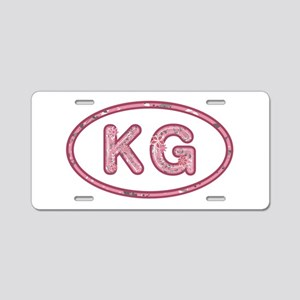 KG Pink Aluminum License Plate