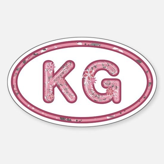 KG Pink Sticker (Oval)