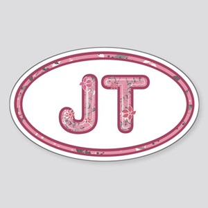 JT Pink Sticker (Oval)