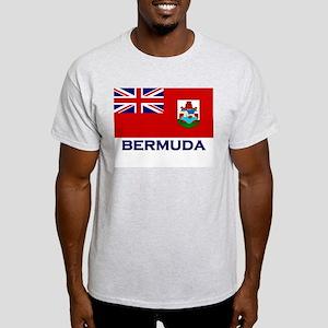 Bermuda Flag Gear Ash Grey T-Shirt