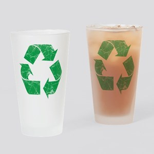 Vintage Recycle Drinking Glass