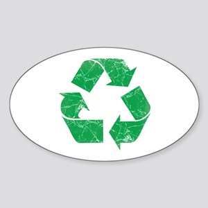 Vintage Recycle Sticker (Oval)