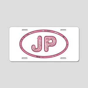 JP Pink Aluminum License Plate