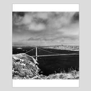 GG Bridge from Hawk Hill Small Poster